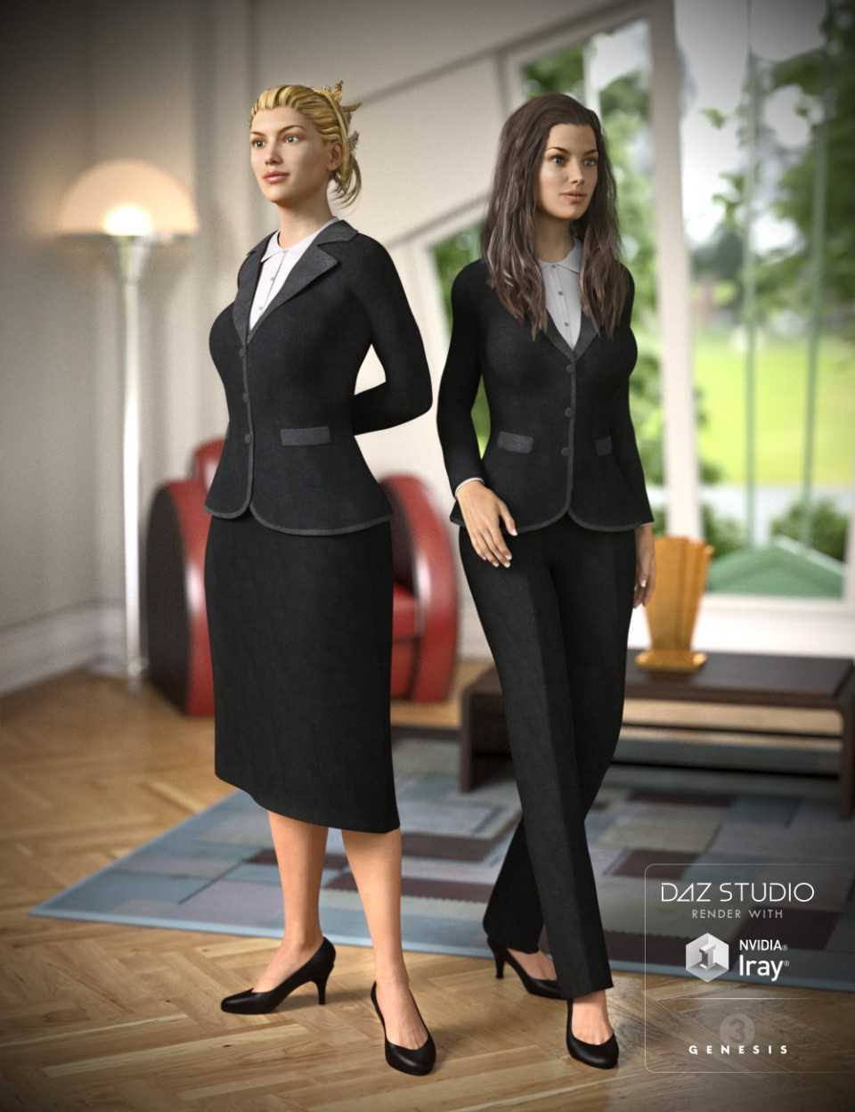 Business Suit for Genesis 3 Female(s)