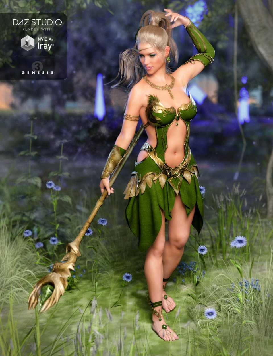 Circe Outfit for Genesis 3 Female(s)