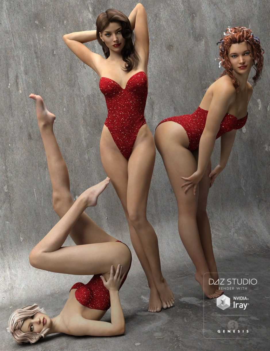 The Spirit of '45 – Pinup Poses for Genesis 3 Female(s)