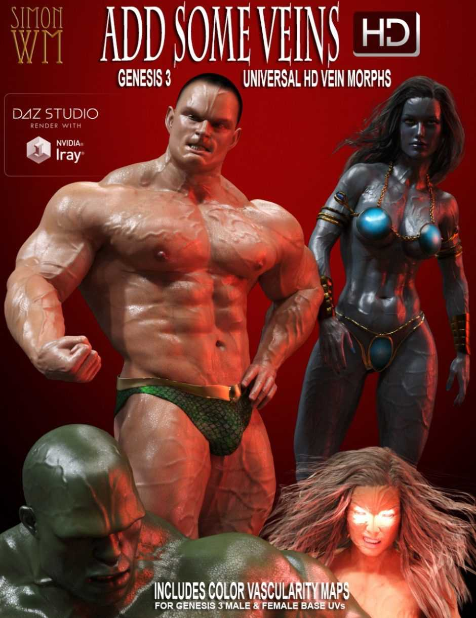 Add Some Veins HD for Genesis 3