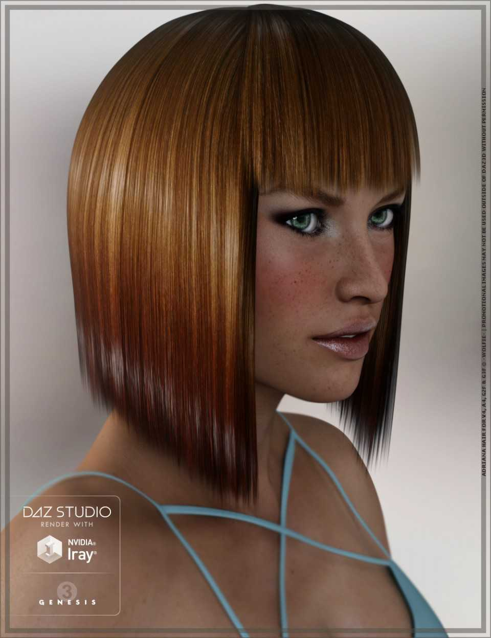 Adriana Hair for Genesis 2 and 3 Female(s) and Victoria 4