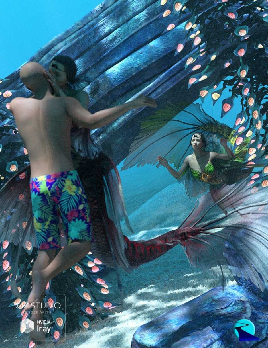 Aguja Mermaid Poses and Pose Control