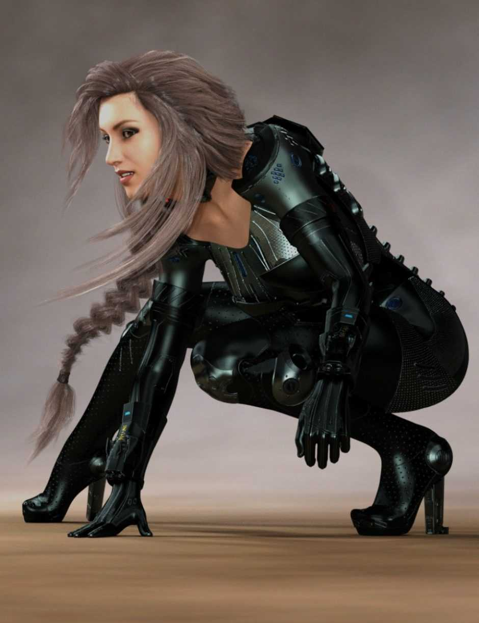Cyber Siren Outfit for Genesis 8 Female(s)