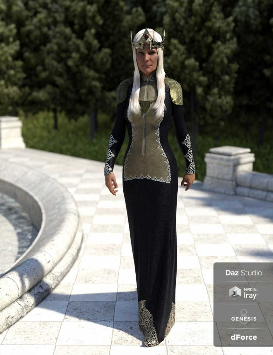 dForce Queen Regent Outfit for Genesis 8 Female(s)