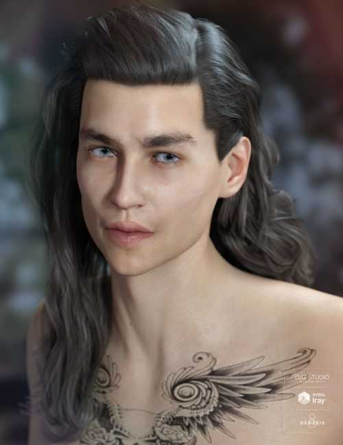 Elan Hair for Genesis 8 Male(s) and Female(s)