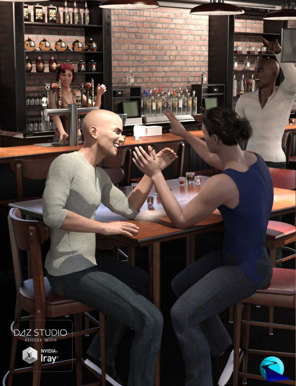 Give You A Hand II Hand Poses for Genesis 3 and Genesis 8 Male