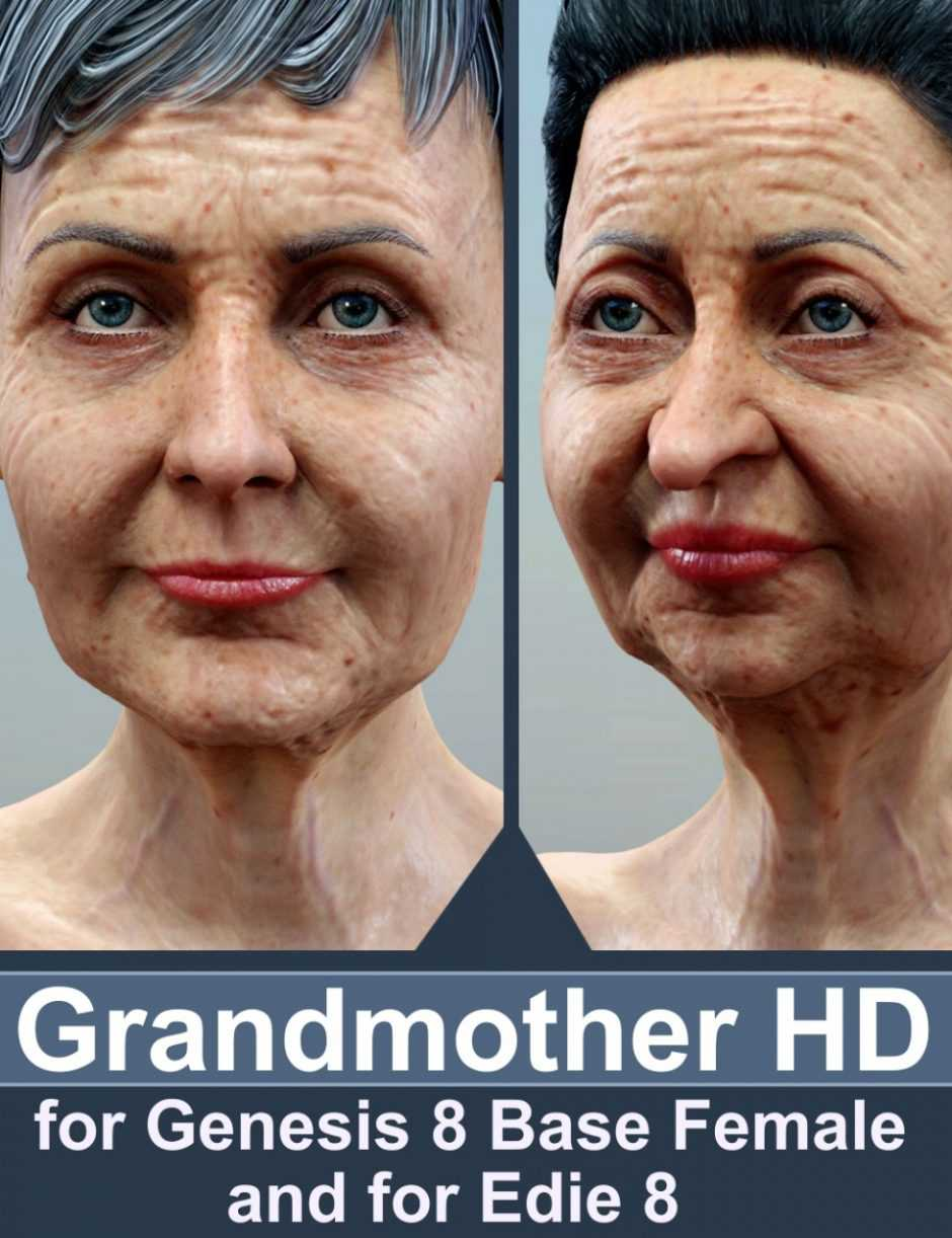Grandmother HD for Genesis 8 Female and Edie 8