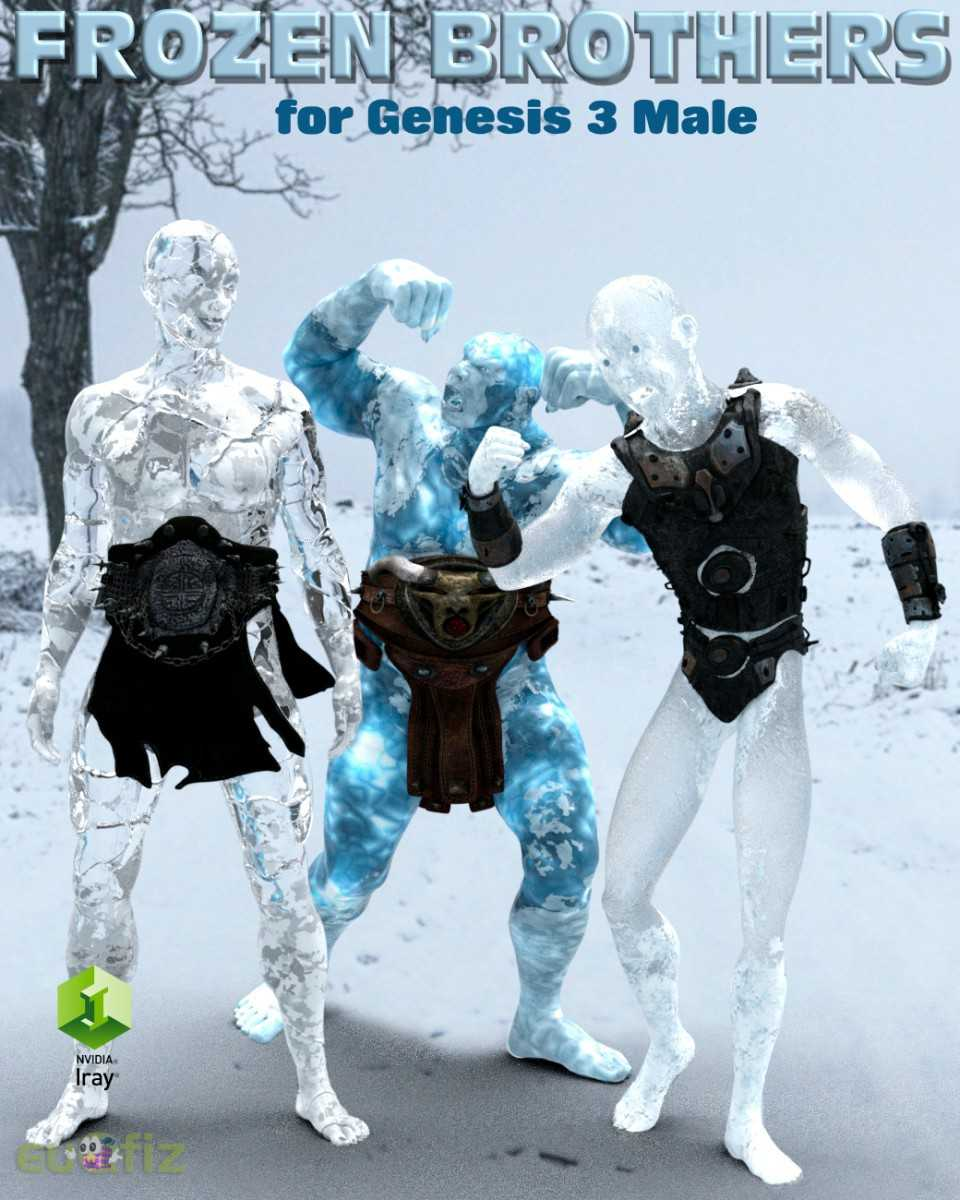 Iray Frozen Brothers for Genesis 3   Male
