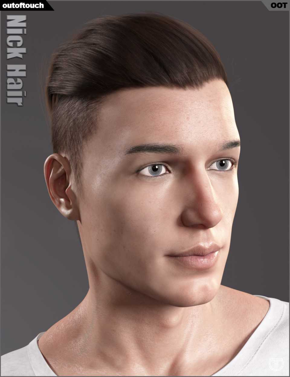 Nick Hair for Genesis 3 and 8