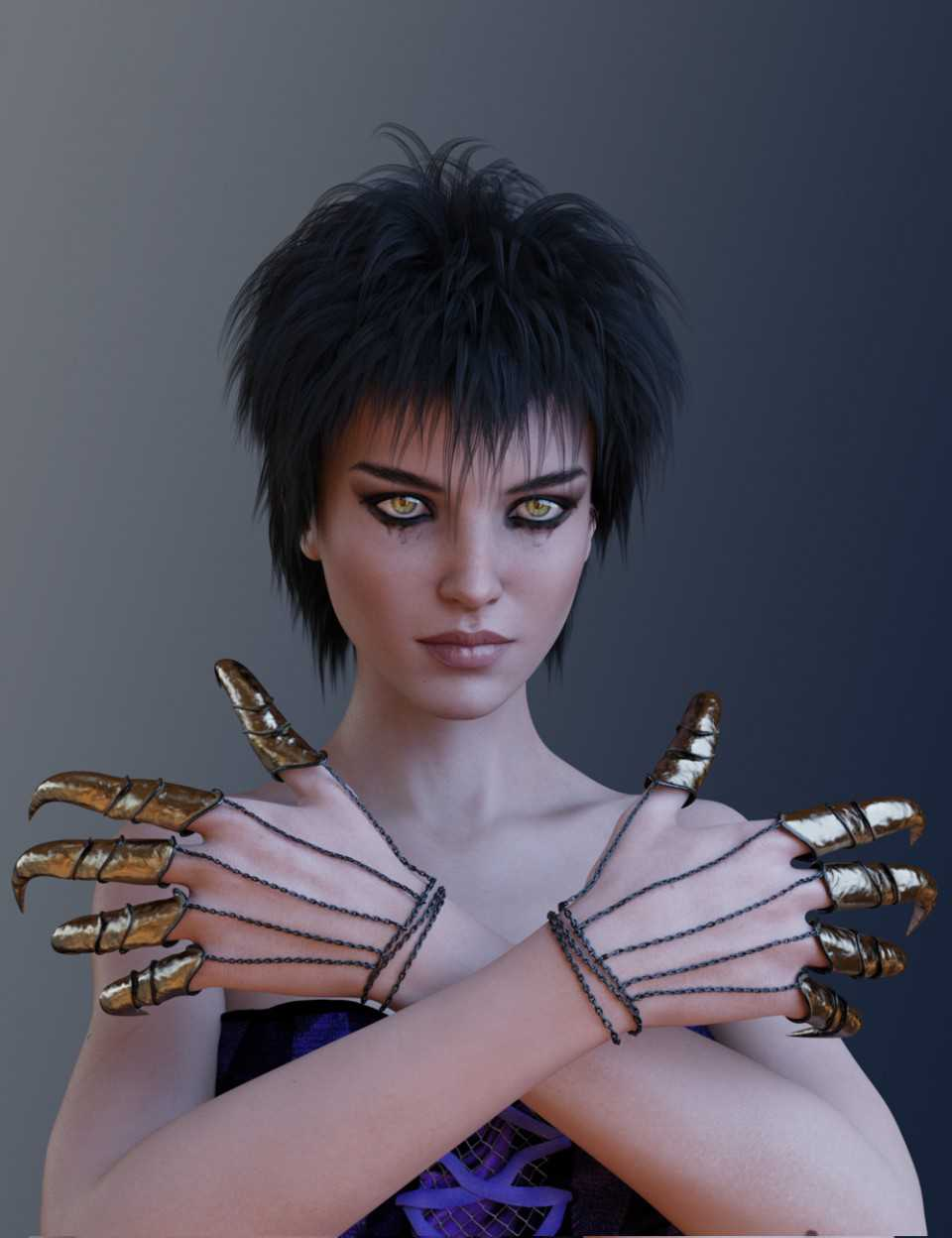 Night Claws for Genesis 3 and 8 Female