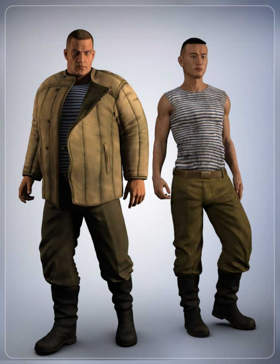 Russian Clothing for Genesis 3 Male(s)