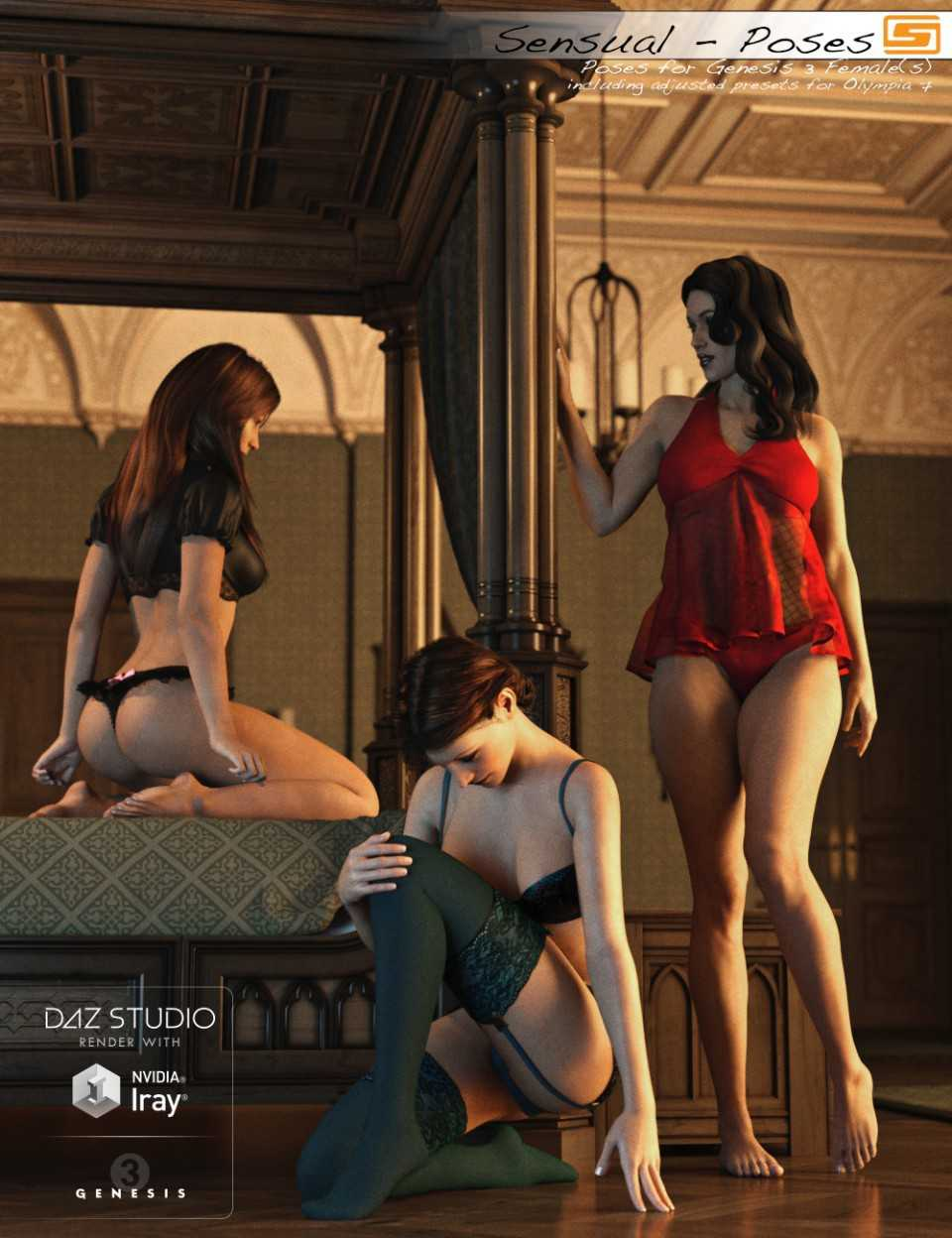Sensual - Poses for Genesis 3 Female and Olympia 7