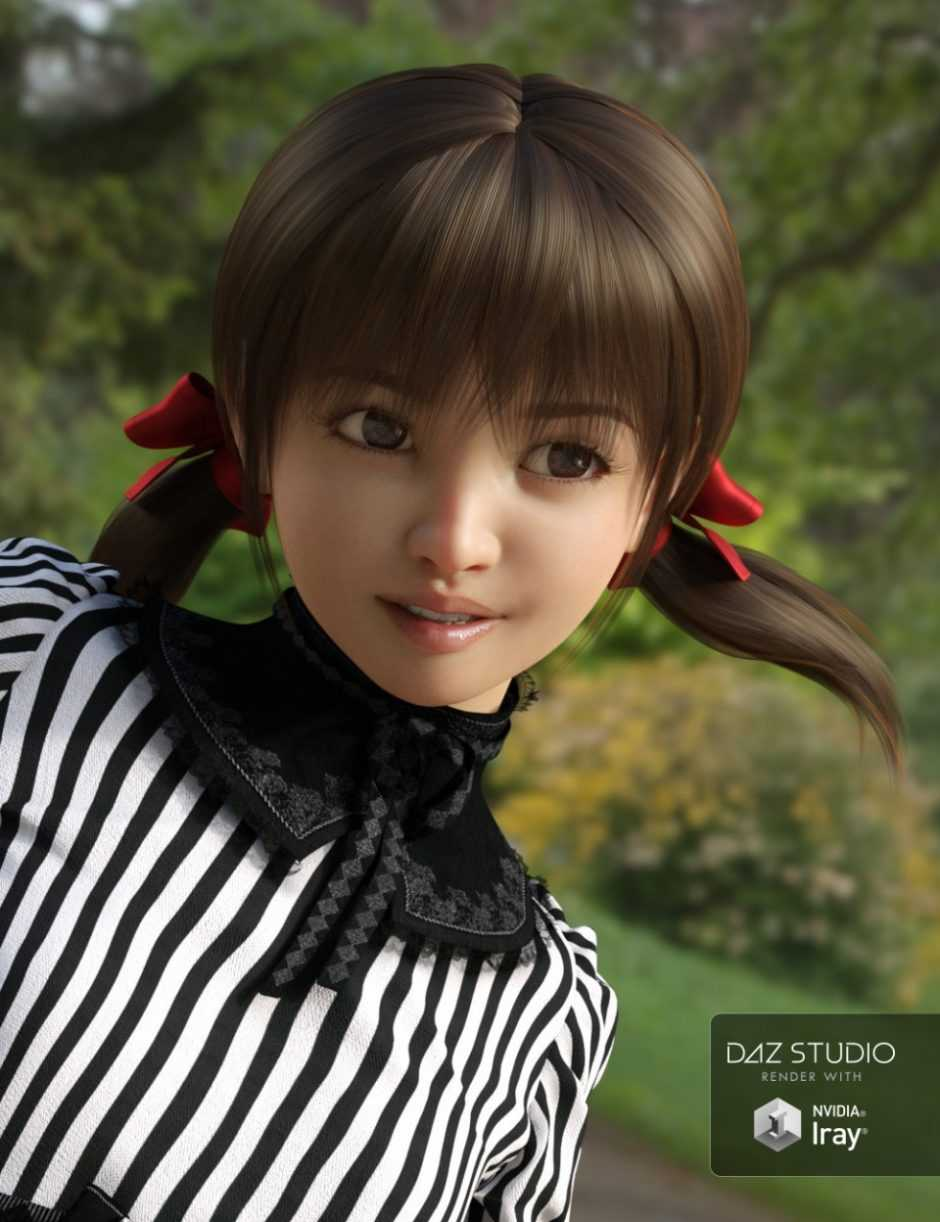 Short Pigtails for Genesis 3 and 8 Female(s)