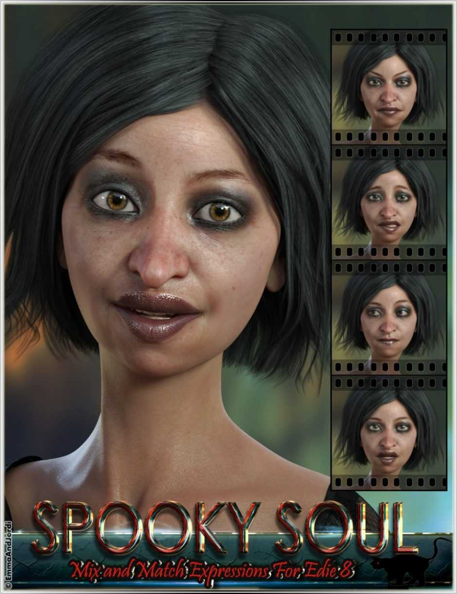 Spooky Soul Mix and Match Expressions for Edie 8 and Genesis 8 Female