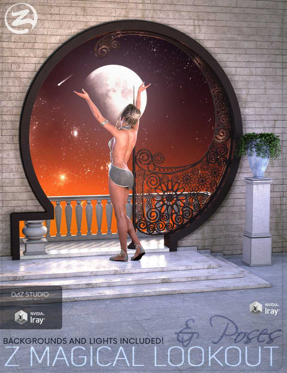 Z Magical Lookout – Scene and Poses for Genesis 3 and 8 Female