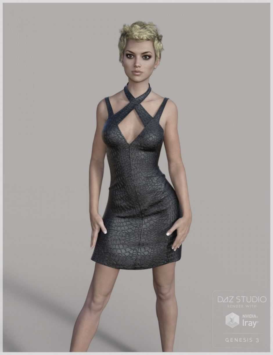 Leather Dress for Genesis 3 Female(s)