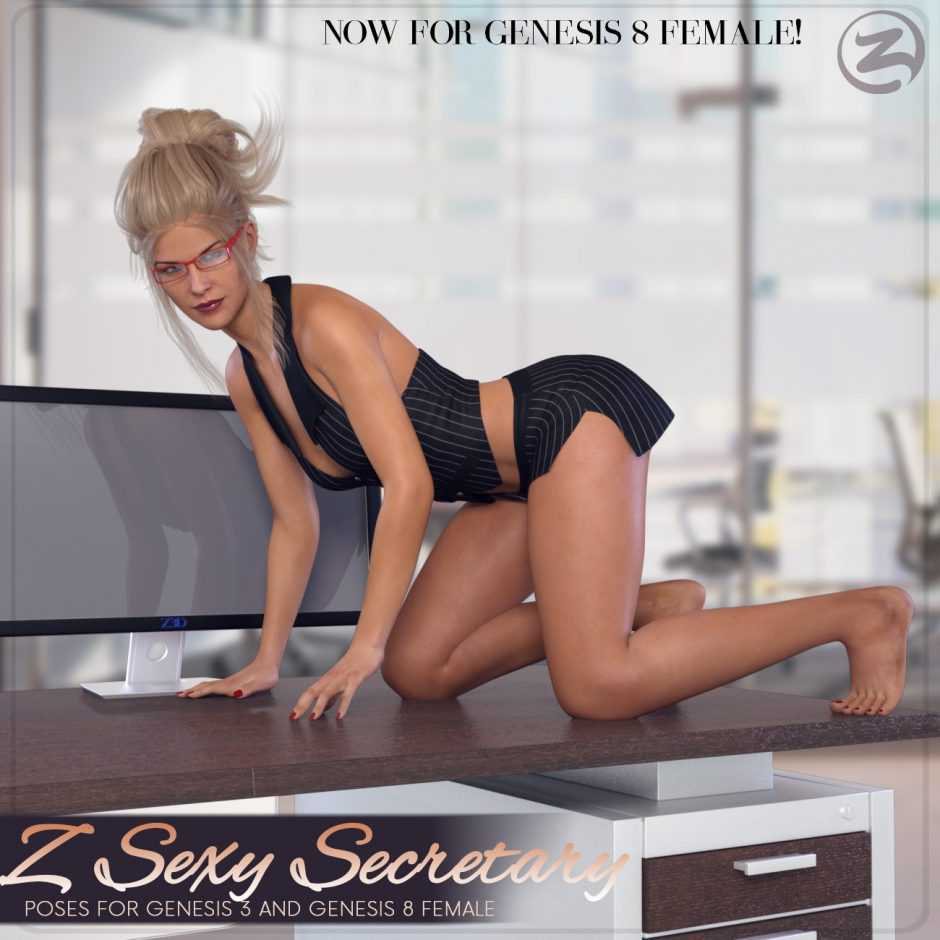 Z Sexy Secretary Poses for Genesis 3 and Genesis 8 Female(s)