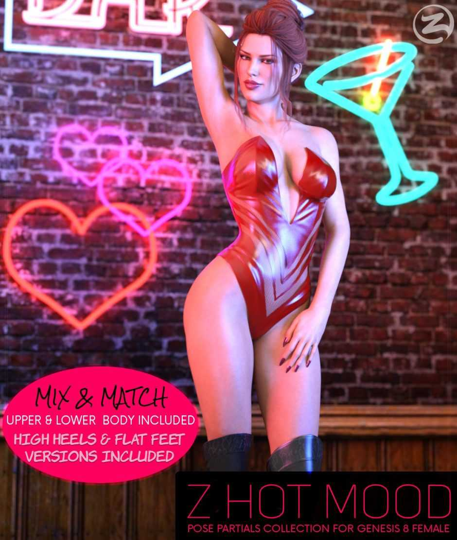 Z Hot Mood Poses and Partials for the Genesis 8 Females