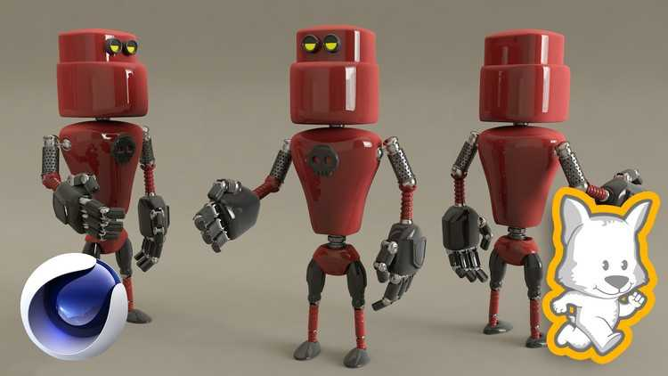 3D Character Creation in Cinema 4D Modeling a 3D Robot