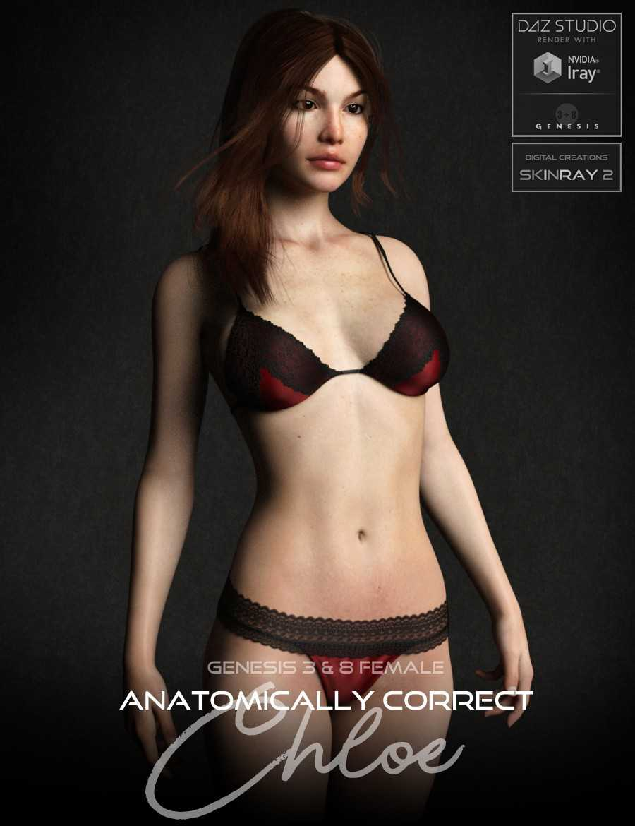 Anatomically Correct: Chloe for Genesis 3 and Genesis 8 Female