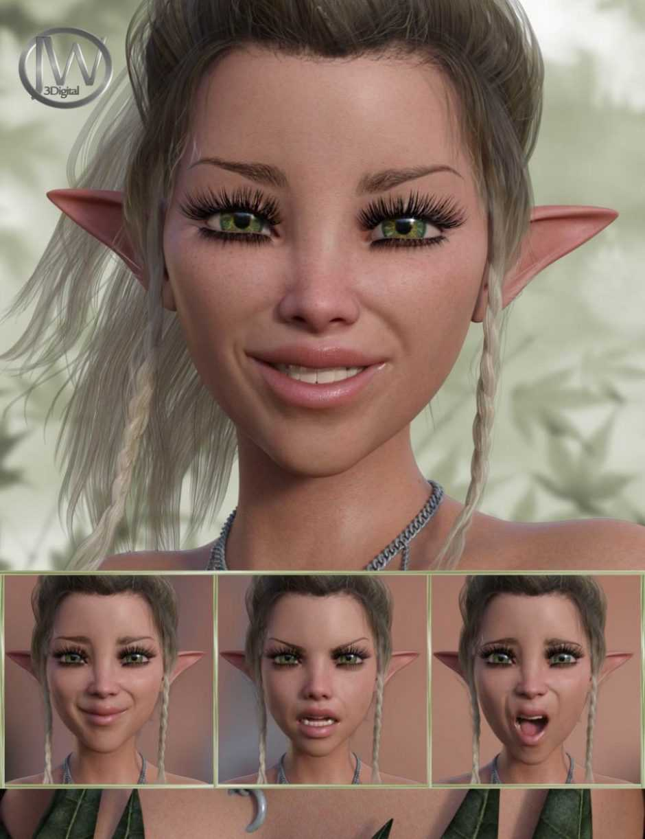 A Nice Fairy – Expressions for Genesis 8 Female and Mika 8