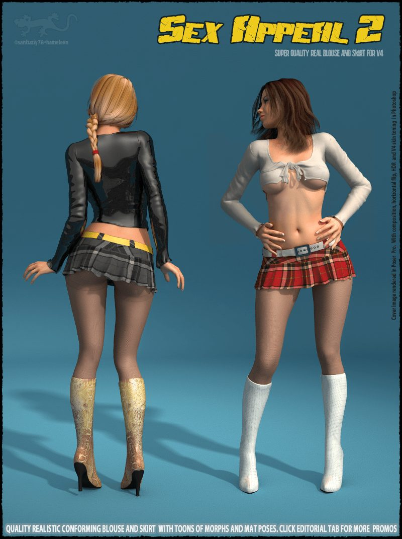 Sex Appeal 2 - Blouse and Skirt for V4