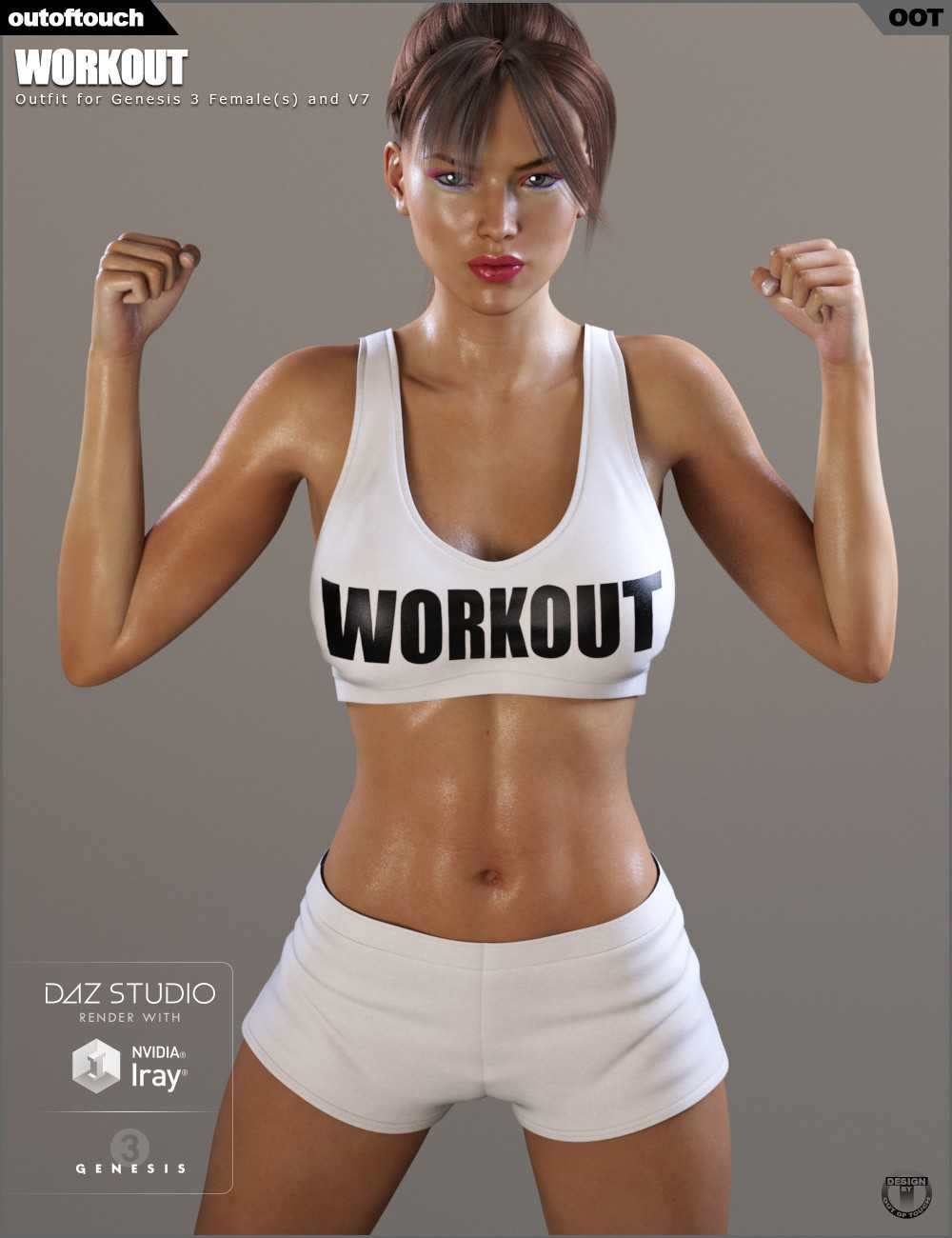 Workout Outfit for Genesis 3 Female(s) V7