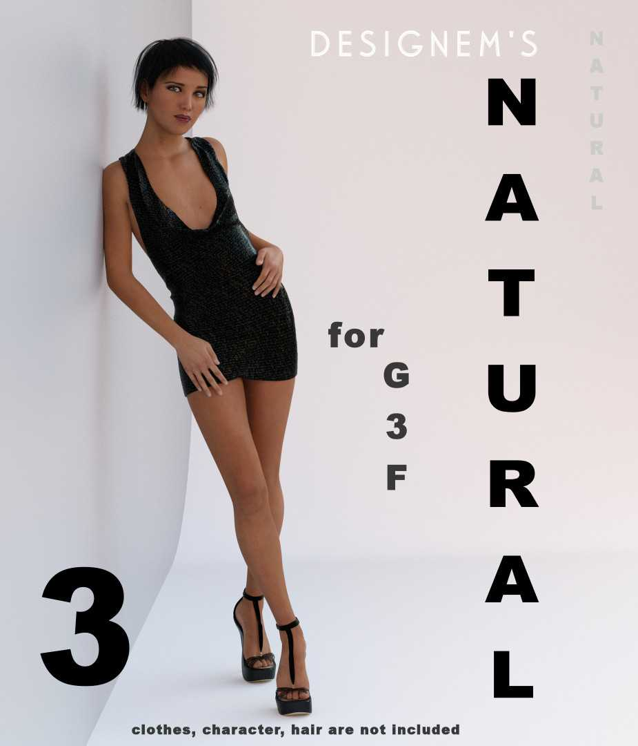 Natural 3 for G3F poses and expressions