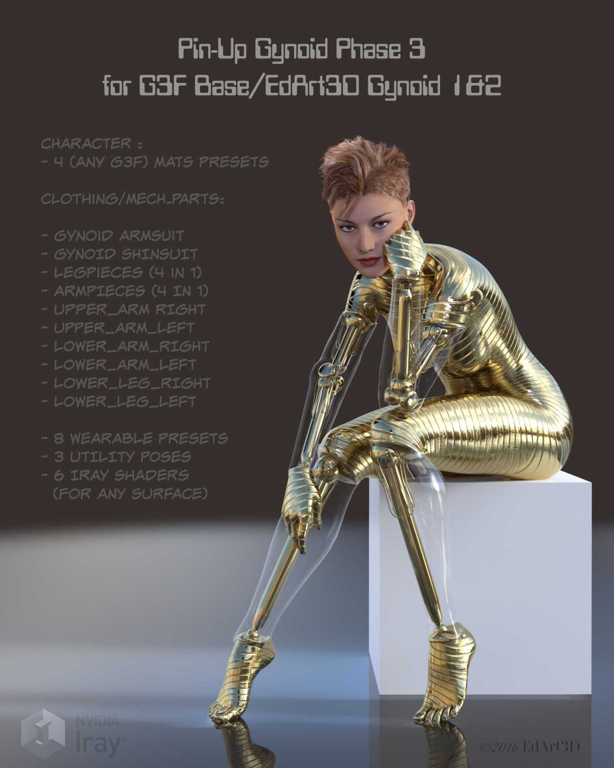 Pin-Up Gynoid Phase3 for G3F Base & Pin-Up Gynoid 1&2