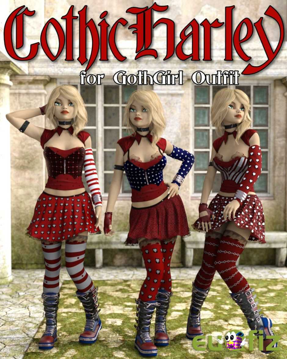 GothicHarley for Goth Girl Outfit G3F