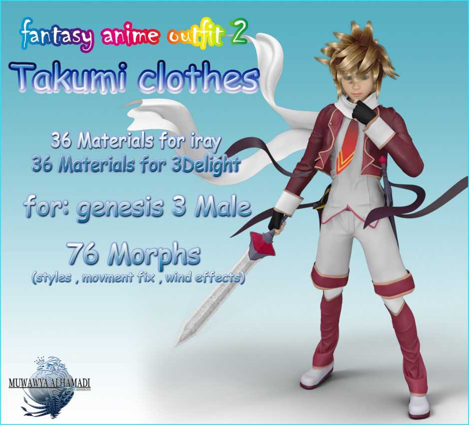 Fantasy Anime Outfit – Takumi for G3