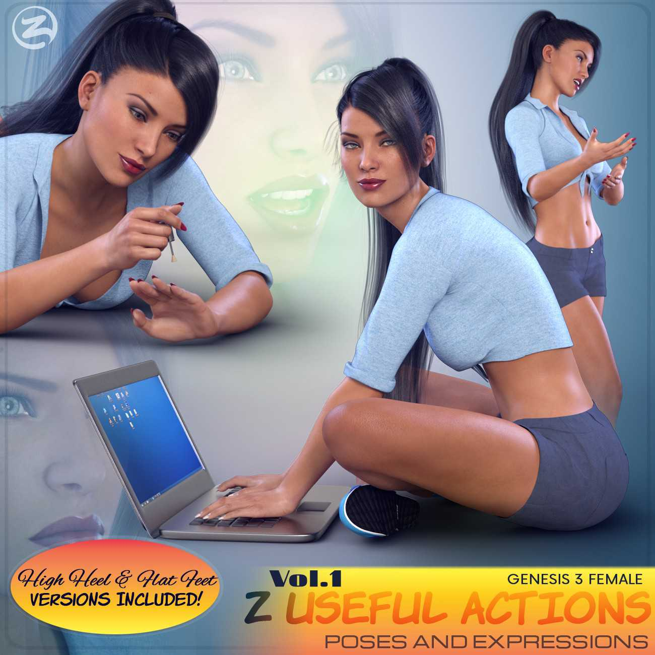 Z Useful Actions – Poses and Expressions for the Genesis 3 Females