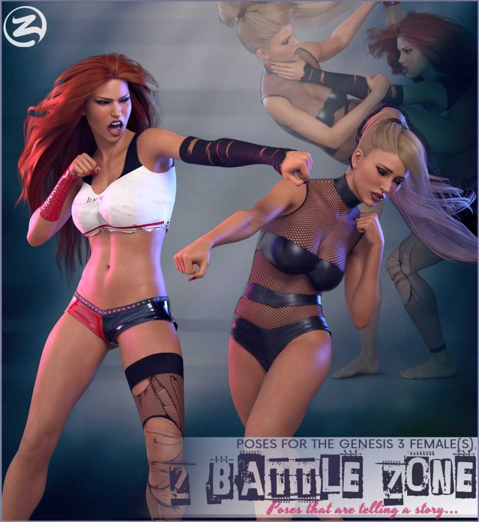 Z Battle Zone – Poses for the Genesis 3 Female(s)