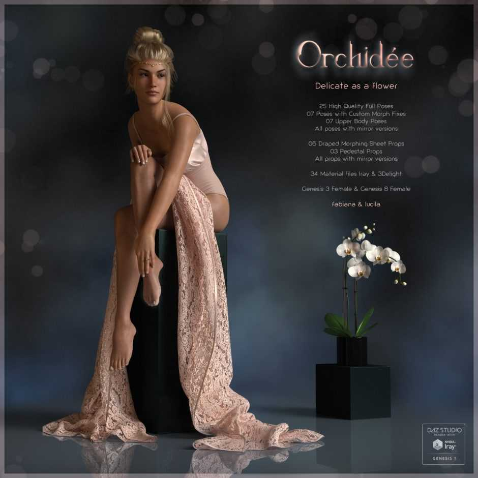 Orchidée Poses for G3F and G8F