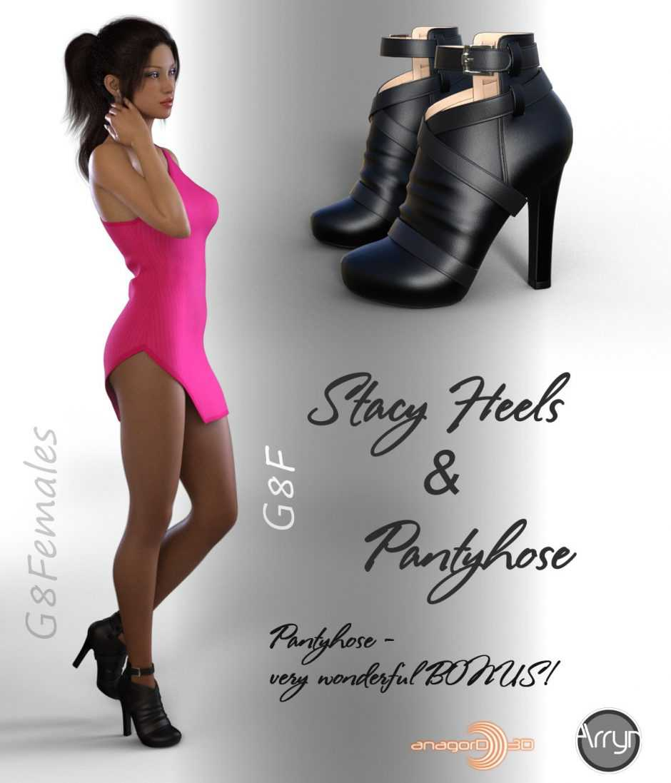 Stacy Heels and Pantyhose G8F