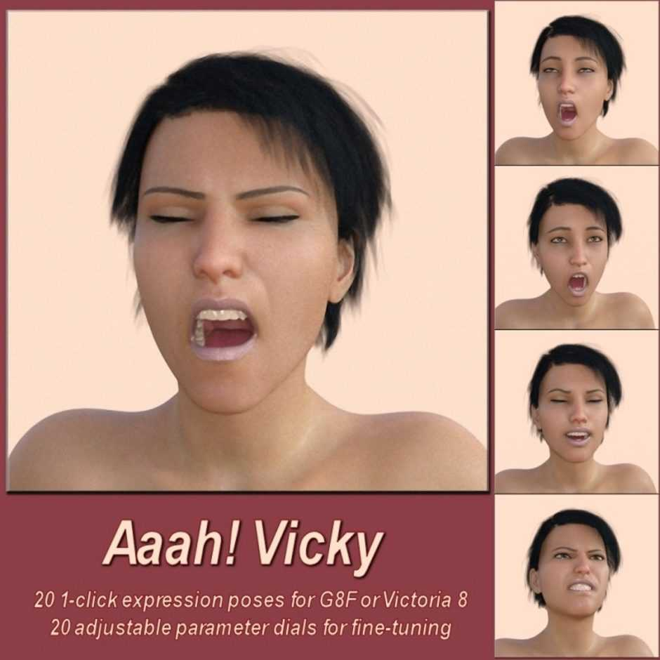 Aaah! Vicky8 for Daz Studio