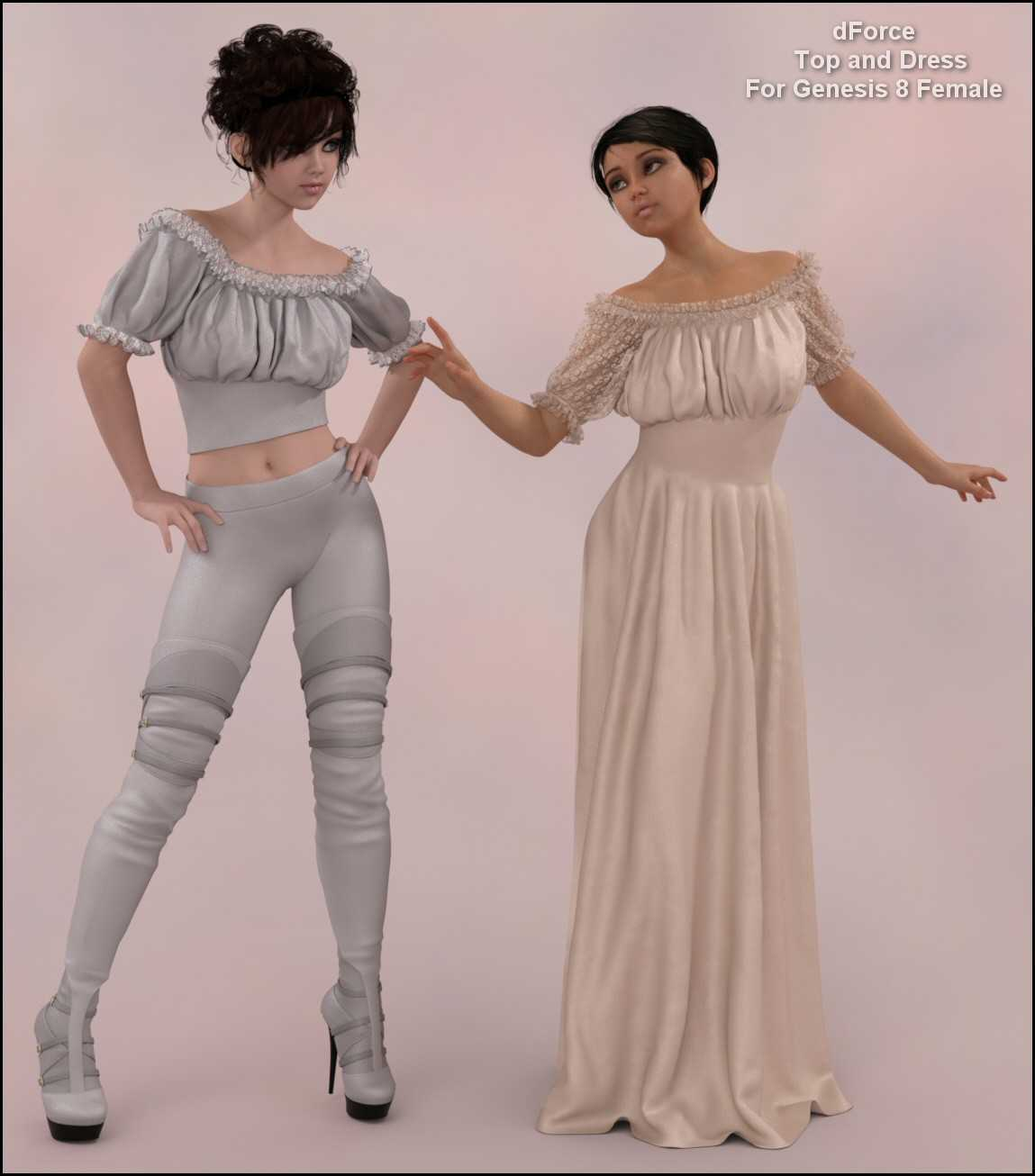 dForce – Wench Top and Dress for G8F