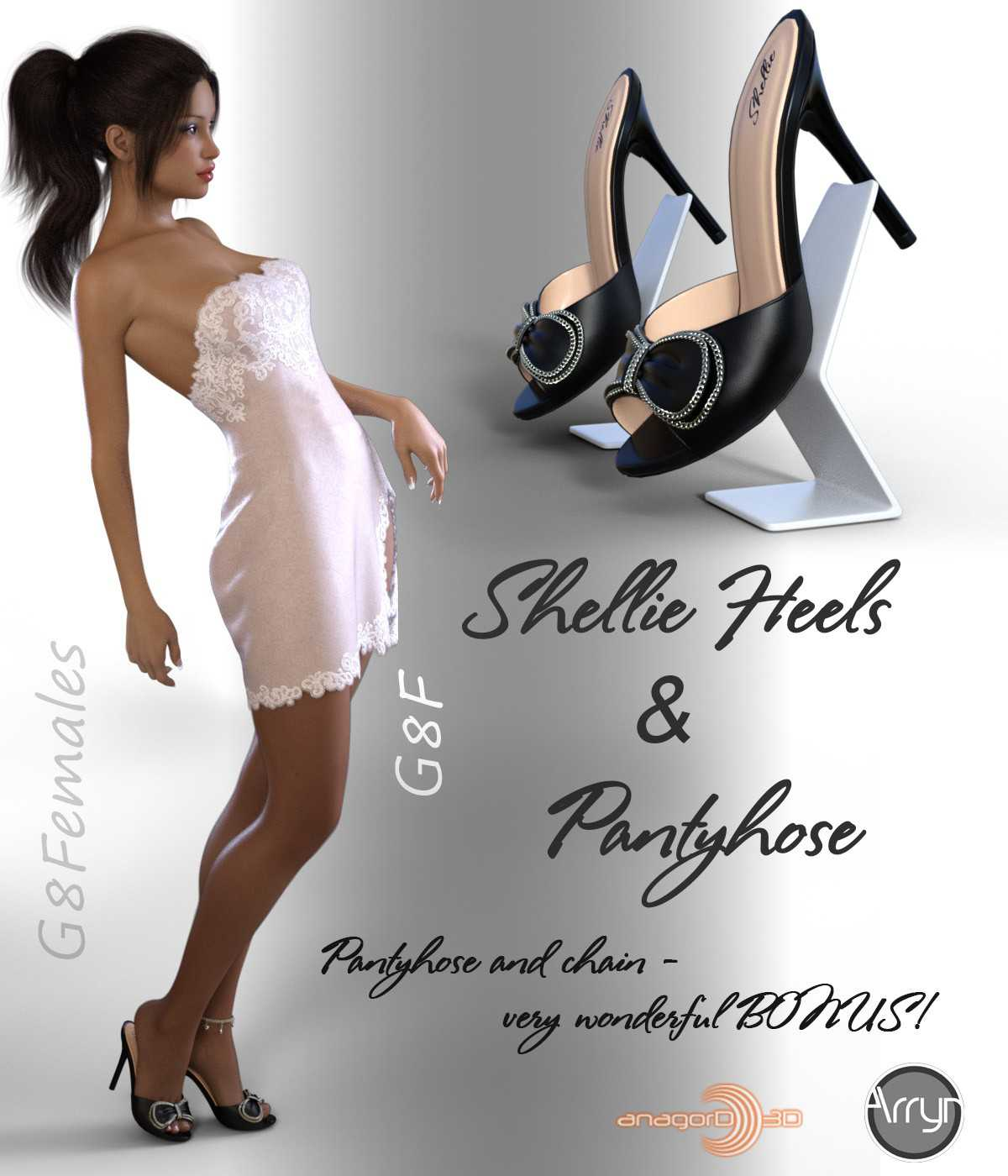 Shellie Heels and Pantyhose G8F