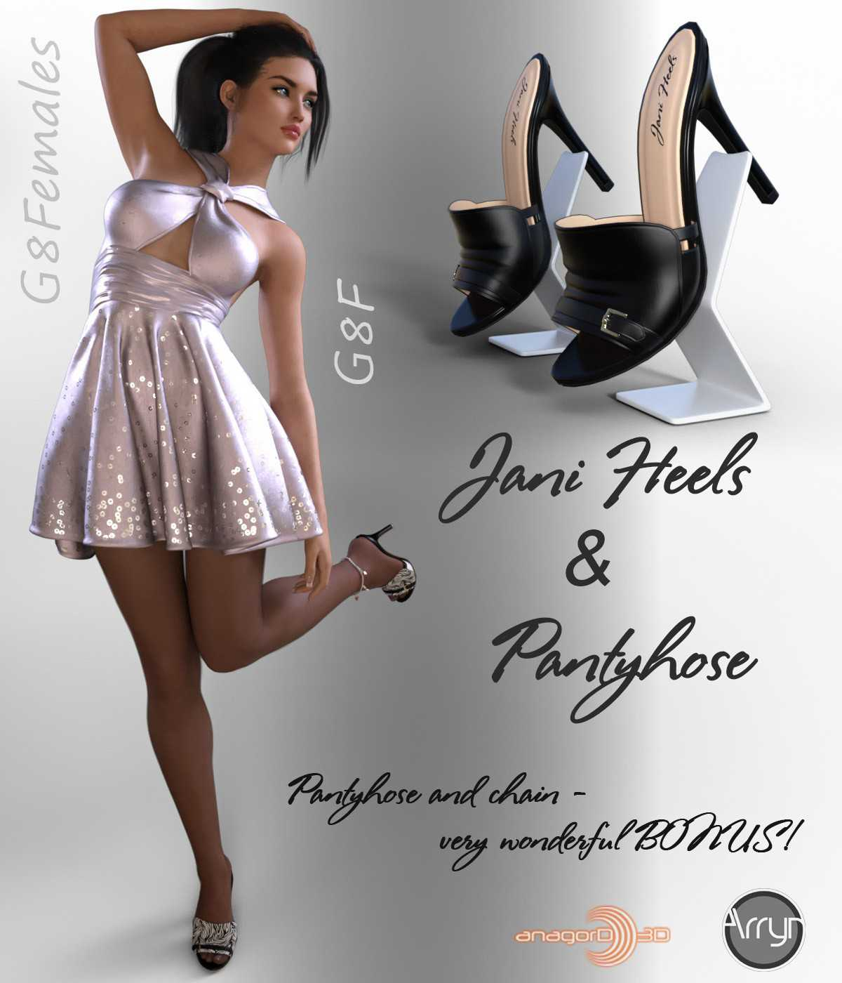 Jani Heels and Pantyhose G8F