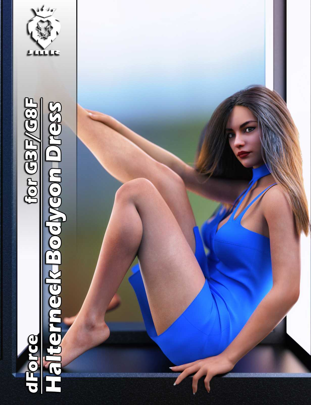 dForce Halterneck Bodycon Dress for G3F and G8F