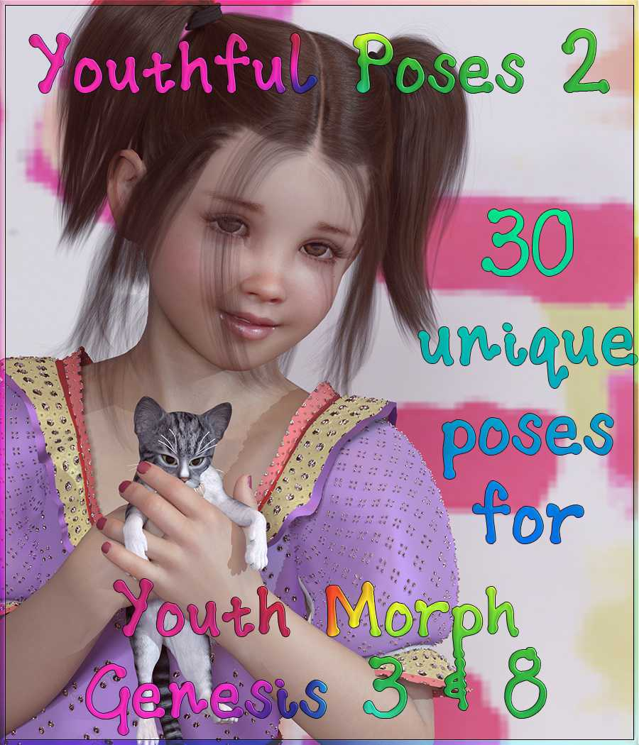 Youthful Poses 2 for Youth Morph G3 and G8