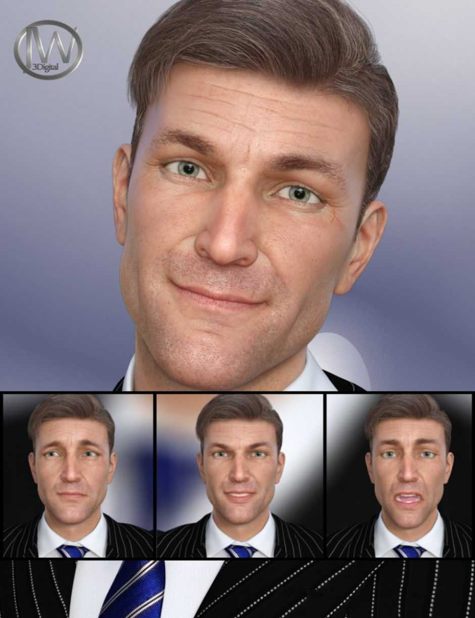 A Gentleman – Expressions for Genesis 8 Male(s) and Edward 8