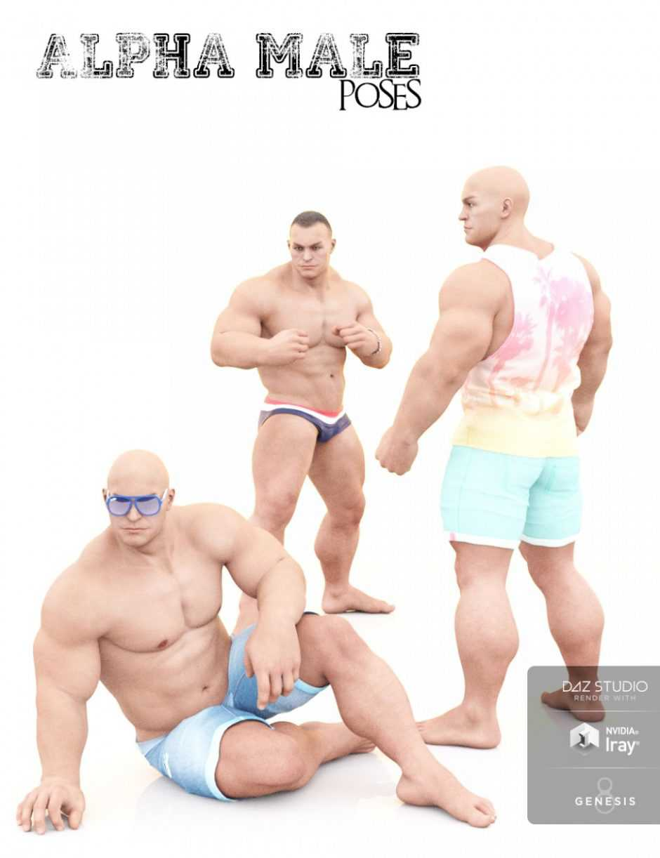 Alpha Male Poses for The Brute 8 and Genesis 8 Male