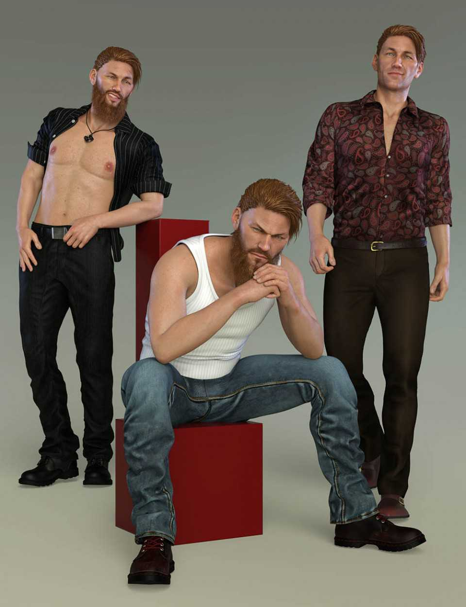 Bad Boy Poses and Expressions for Christian 8 Genesis 8 Male(s)