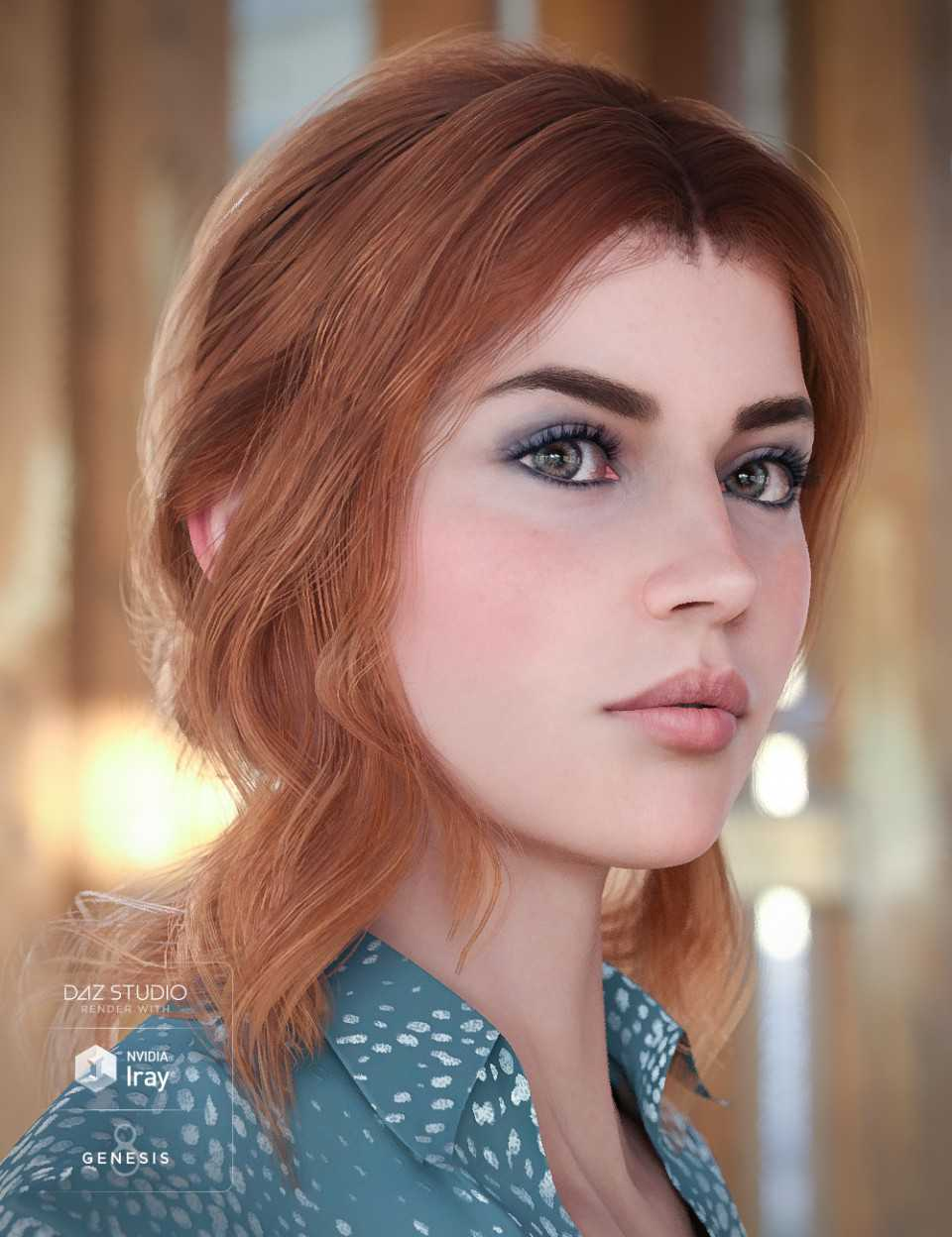 Capri Hair for Genesis 8 Female(s)