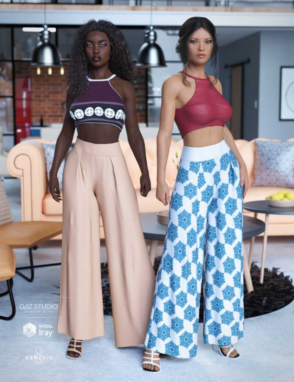 dForce Palazzo Pants Outfit Textures