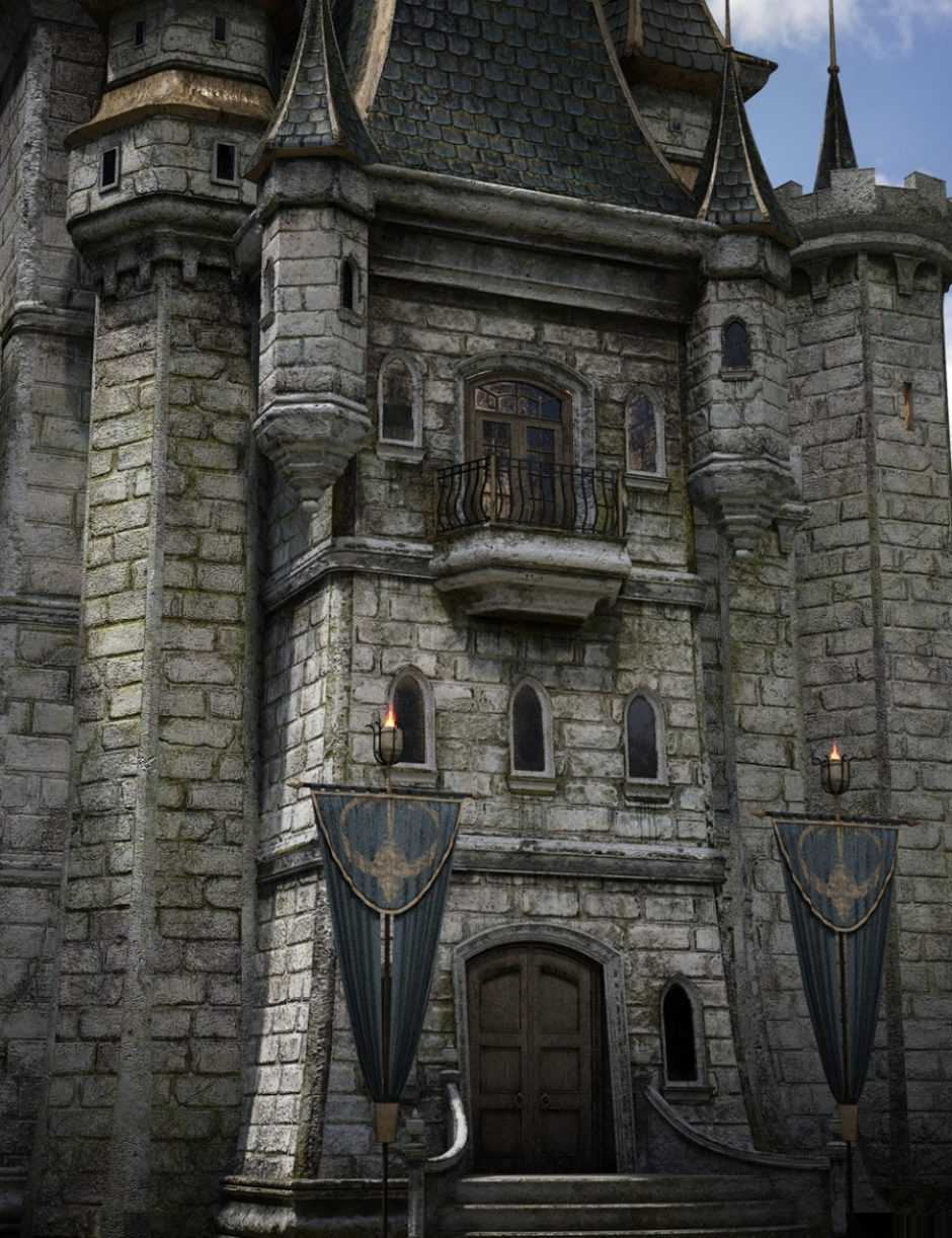 Fantasy Castle Keep 2 for Iray