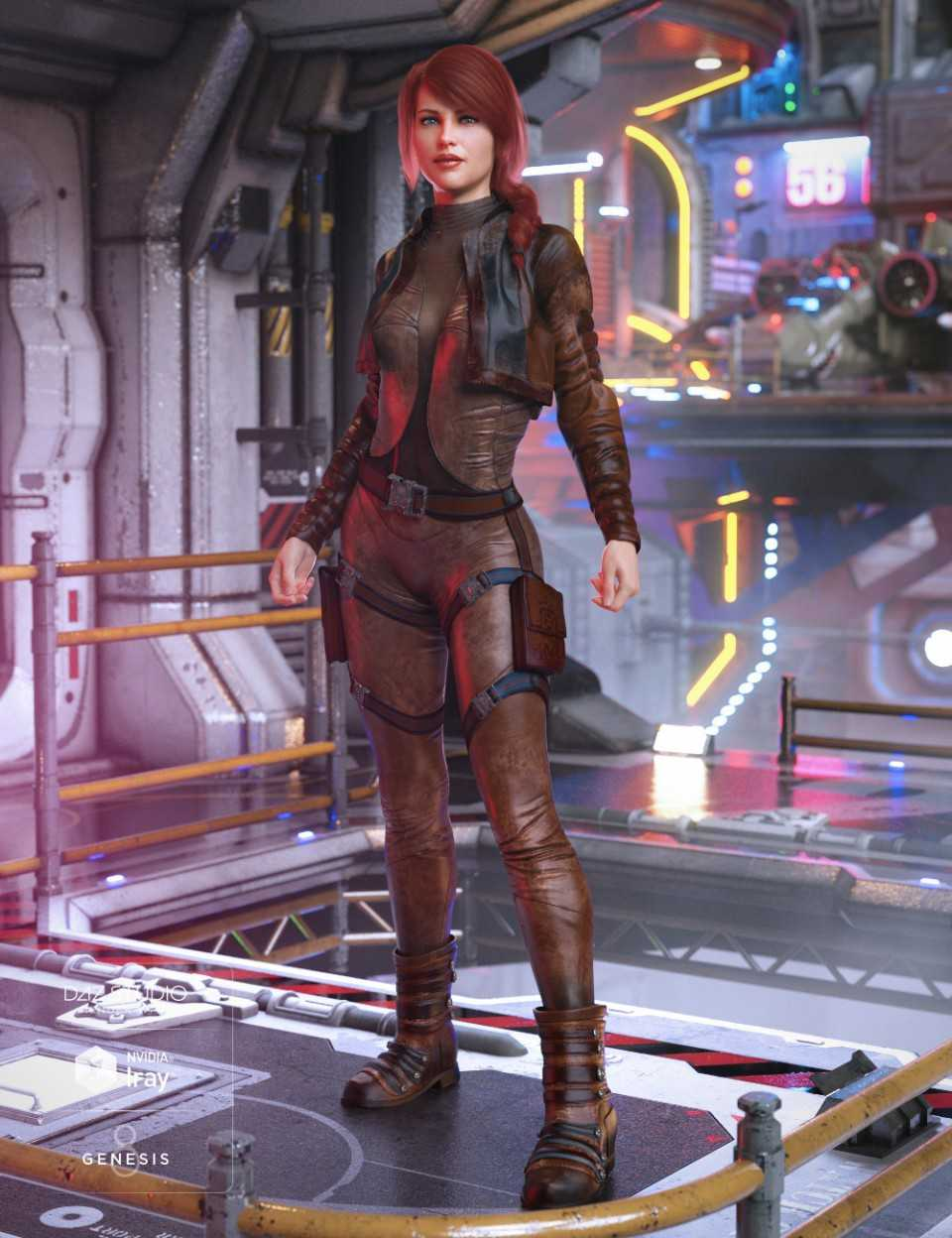 Sky Jumper Outfit for Genesis 8 Female(s)