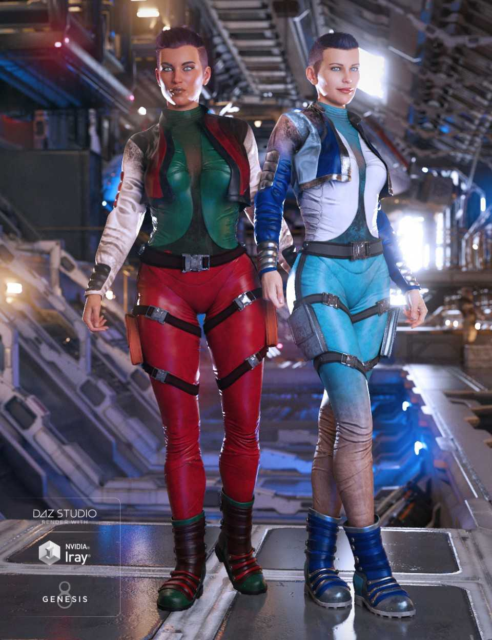 Sky Jumper Outfit Textures