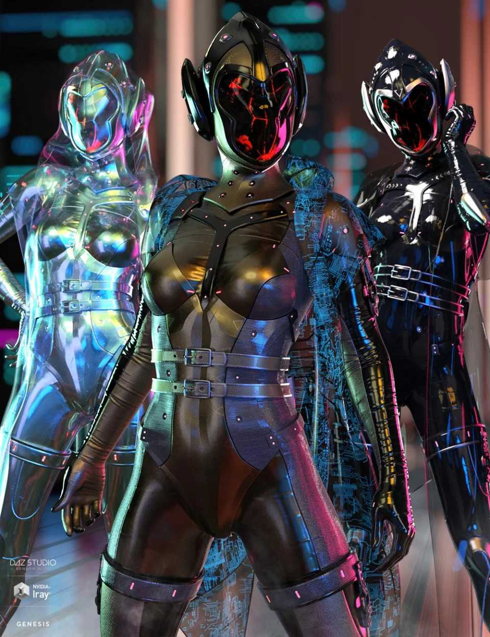 dForce Void Suit-X Outfit Iray Texture Set
